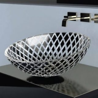Glass countertop washbasin by GLASS DESIGN