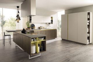 L-shaped contemporary kitchen by Euromobil