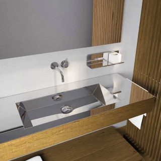 Stainless steel washbasin by Componendo