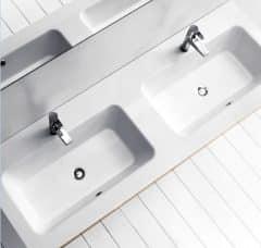 Lavabo doppio della marca Inda
