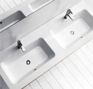 Indaの2ボウル洗面器