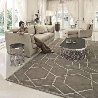Patterned rug by BY LONGHI