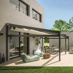 wall-mounted pergola by Corradi