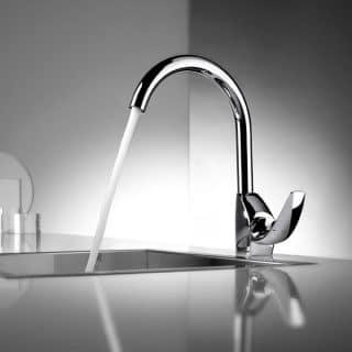 Single-handle mixer tap by ROCA