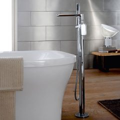 floor mounted bathtub mixer tap by GRAFF
