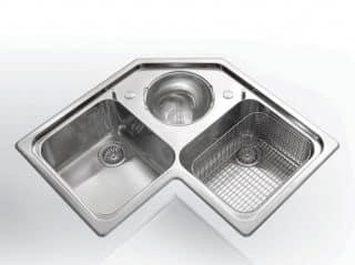Угловая кухонная раковина ALPES INOX