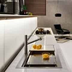 DADAのスチール製キッチン用流し台