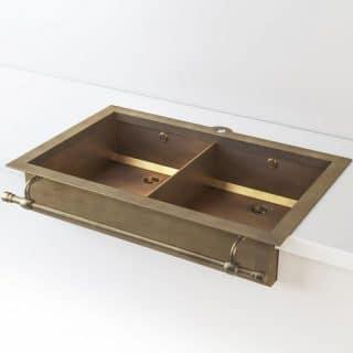 Двойная кухонная раковина OFFICINE GULLO