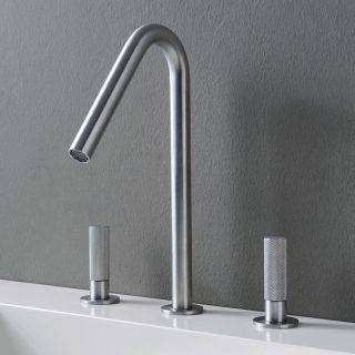 TREEMME 3 hole double-handle mixer tap