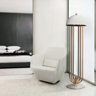 DELIGHTFULL Brass Floor Lamp